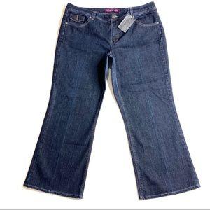 Gloria Vanderbilt Straight BOOT Jeans 18W Blue